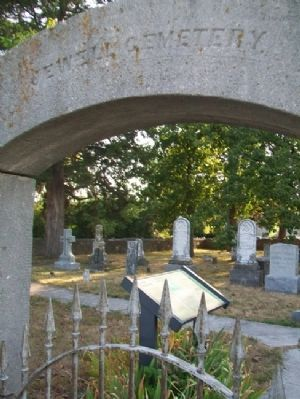 Jewell Cemetery Gate and Marker image. Click for full size.