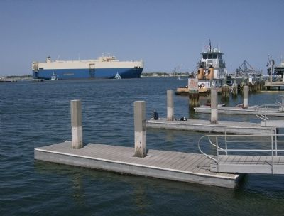Grand Mark Cargo Ship Departing Port Canaveral image. Click for full size.