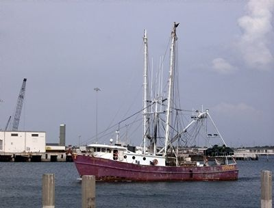 Commercial Shrimp Boat Returning to Port Canaveral image. Click for full size.