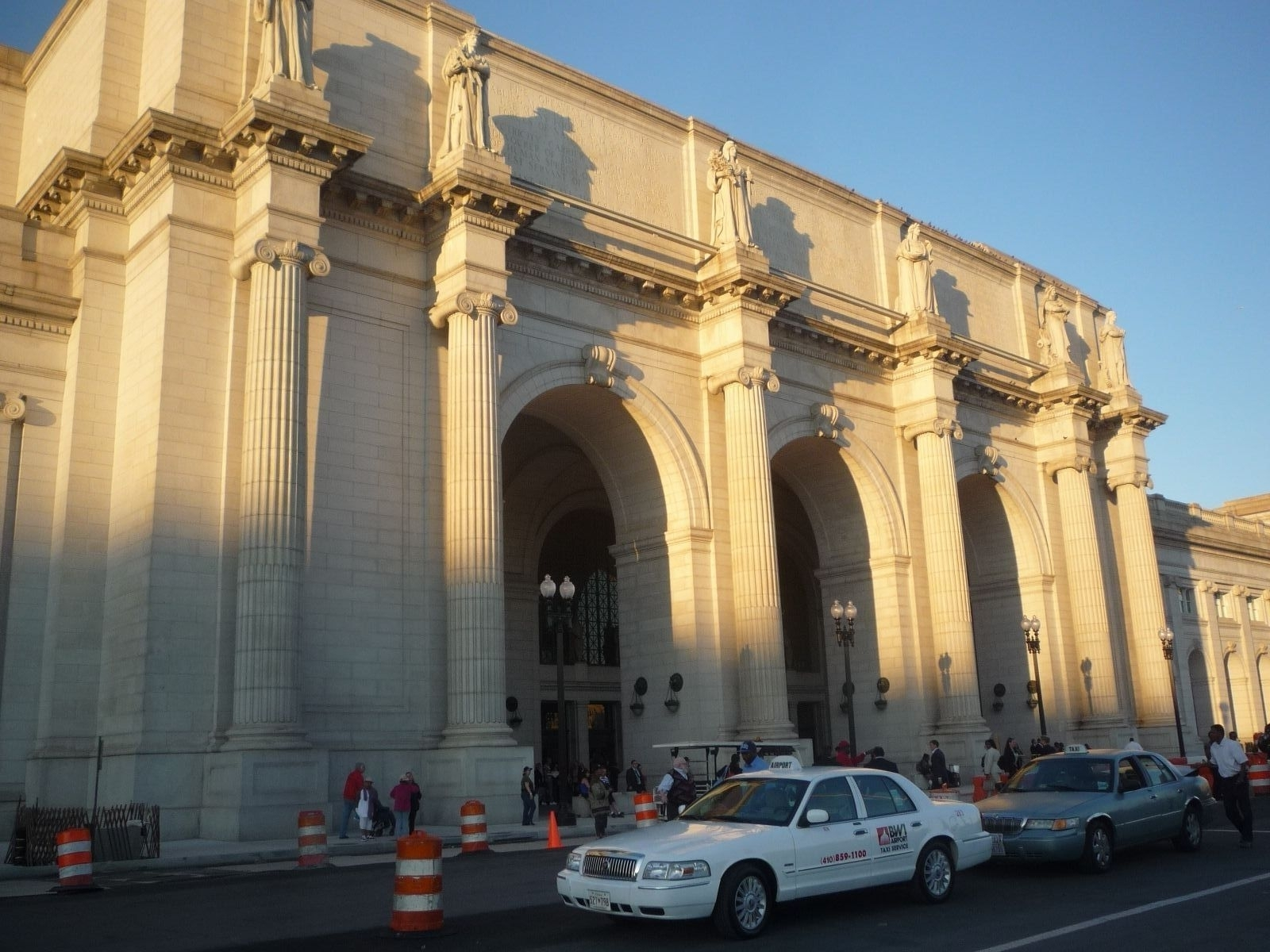 "Union Station, Washington, DC - across 1st Street from the ""All Aboard"" marker"