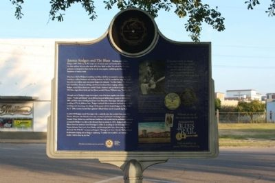 Jimmie Rodgers & The Blues Marker, Reverse side image. Click for full size.