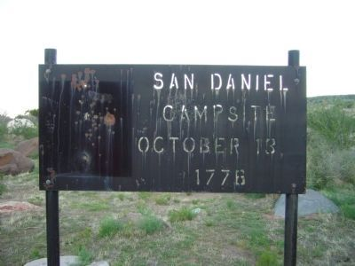 San Daniel Campsite - October 13, 1776 image. Click for full size.