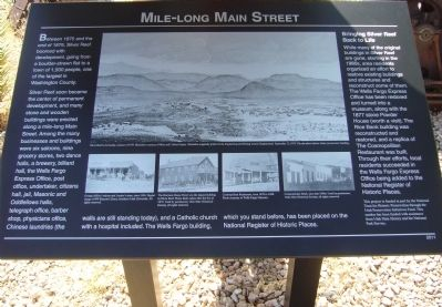 Mile-long Main Street Marker image. Click for full size.