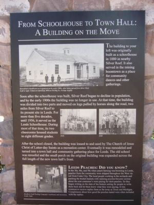 From Schoolhouse to Town Hall Marker image. Click for full size.