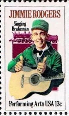 Jimmie Rodgers Stamp image. Click for full size.