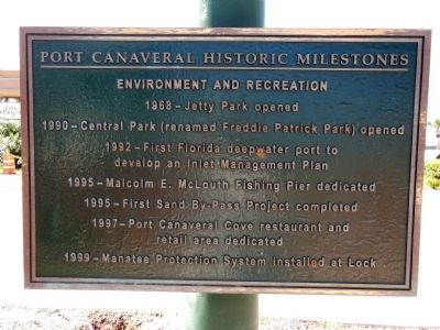 Port Canaveral Historic Milestones image. Click for full size.