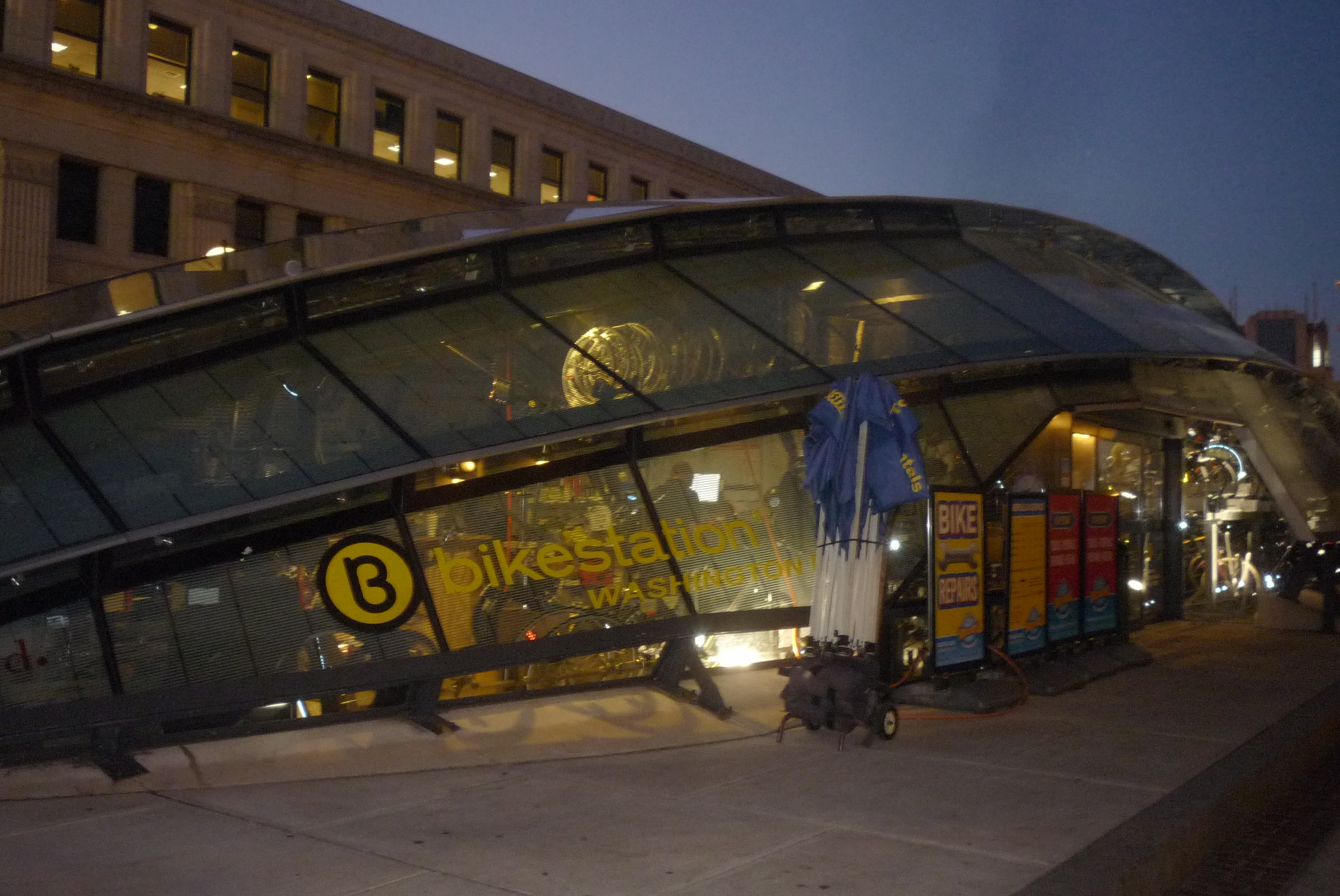 <i>Bikestation, Washington, DC </i>, 24-hour indoor parking/service facility for