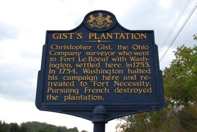 Gist's Plantation Marker image. Click for full size.