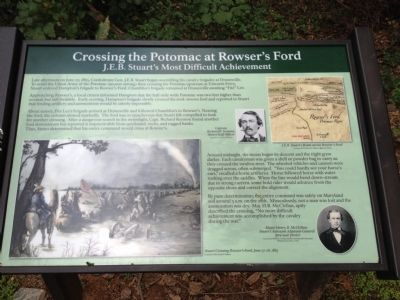 Crossing the Potomac at Rowser's Ford Marker image. Click for full size.