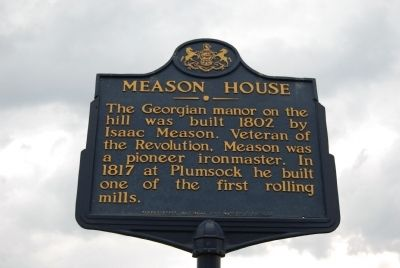 Meason House Marker image. Click for full size.