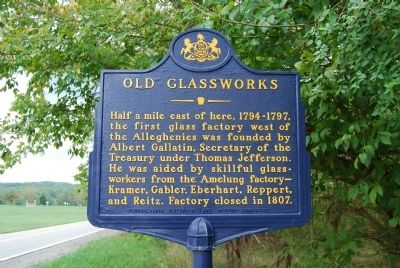 Old Glassworks Marker image. Click for full size.