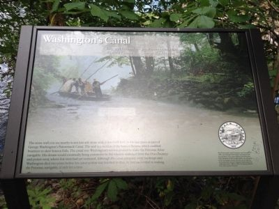 Washington's Canal Marker image. Click for full size.