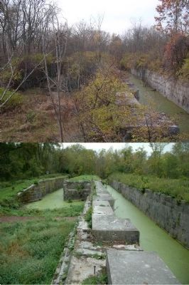 Lock 19 in 2005 & 2012 image. Click for full size.