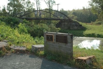 Whipple Iron Truss Bridge & Marker image. Click for full size.