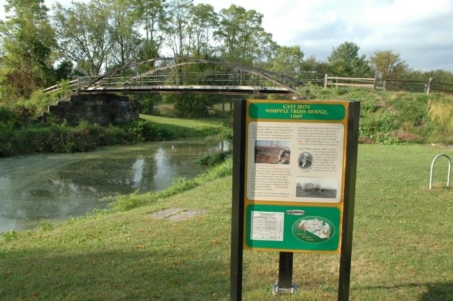 Cast Iron Whipple Bridge & Marker image. Click for full size.