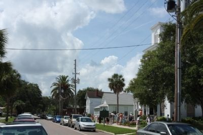 First Presbyterian Church Marker, looking south image. Click for full size.