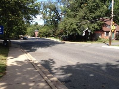 Military Road in this section of Arlington County image. Click for full size.