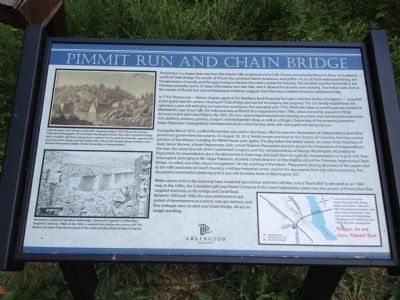 Pimmit Run and Chain Bridge Marker image. Click for full size.