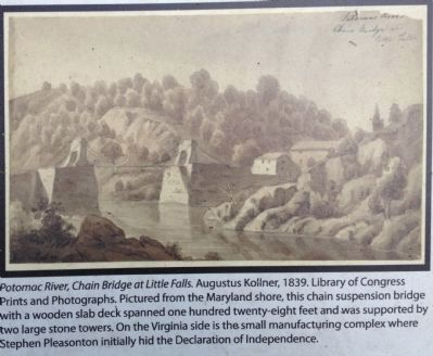 Potomac River, Chain Bridge at Little Falls image. Click for full size.
