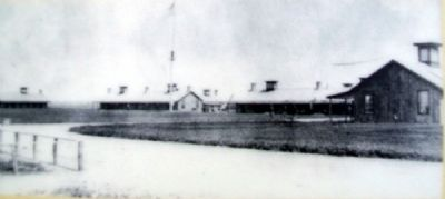 Enlisted Barracks Photo on Marker image. Click for full size.