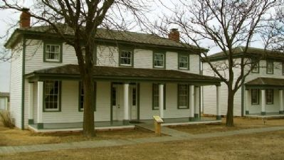 Officers' Row Quarters and Marker image. Click for full size.