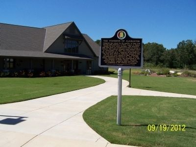 The Founding of Alabaster/Siluria Marker in front of the Senior Center image. Click for full size.