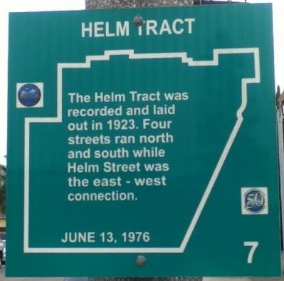 Helm Tract Marker image. Click for full size.