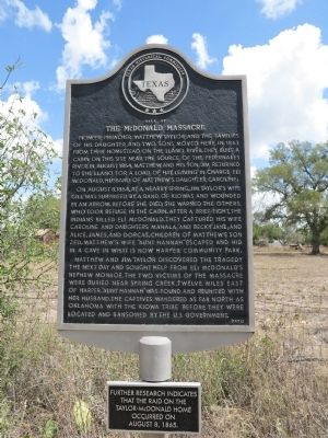 Site of the McDonald Massacre Marker image. Click for full size.