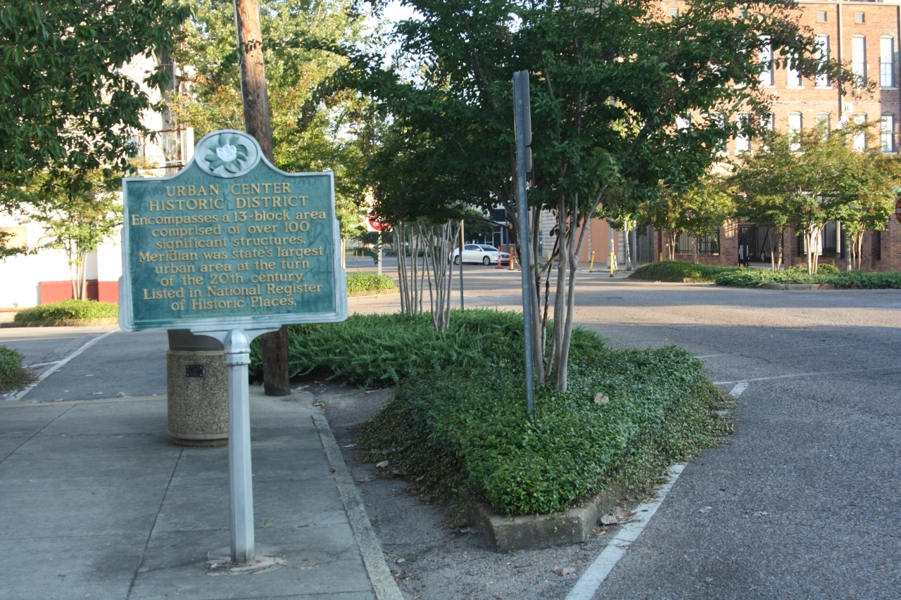 Urban Center Historic District Marker, along 25th Avenue near 6th Street