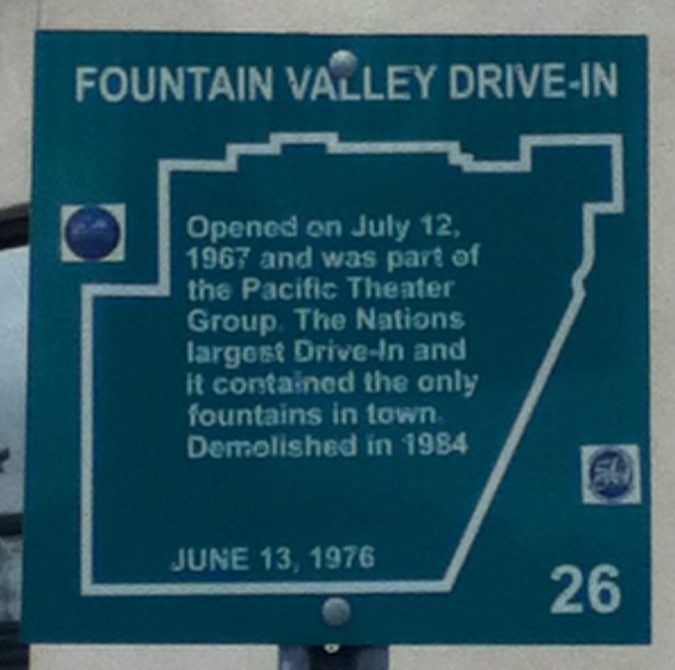 Fountain Valley Drive-In Marker