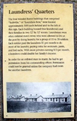 Laundress' Quarters Marker image. Click for full size.