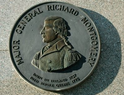 Major General Richard Montgomery Plaque image. Click for full size.