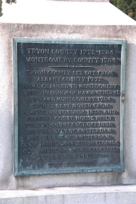 Tryon County 1772-1784 Montgomery County 1784 Marker image. Click for full size.