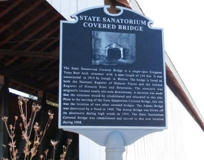 State Sanatorium Covered Bridge Marker image. Click for full size.
