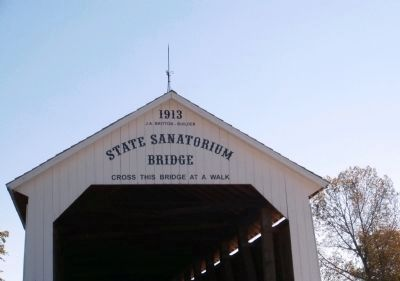 State Sanatorium Covered Bridge - Markings image. Click for full size.
