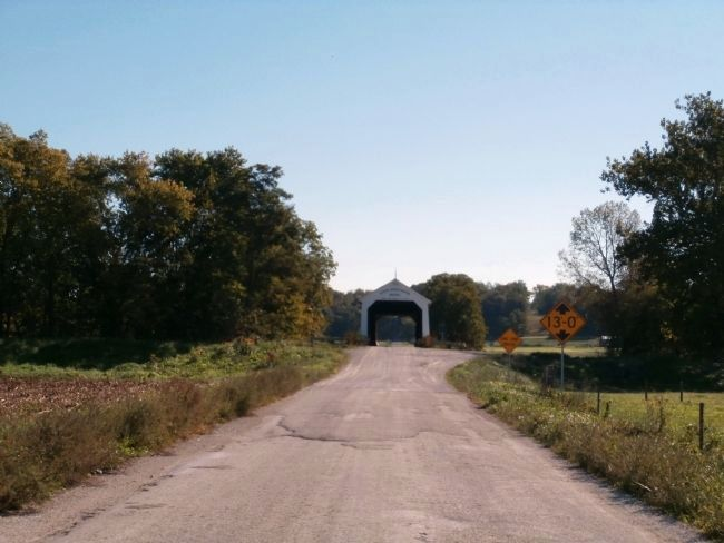 Looking East - - State Sanatorium Covered Bridge Marker image. Click for full size.