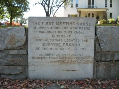 The First Meeting House in Upper Ashuelot Marker image. Click for full size.