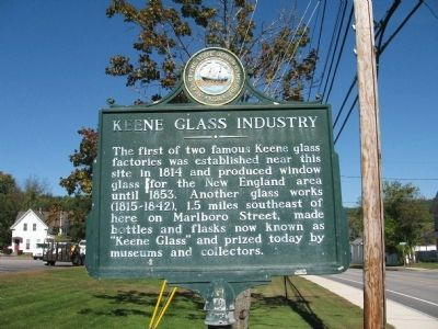 Keene Glass Industry Marker image. Click for full size.