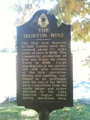 The Ironton Mine Marker image. Click for full size.