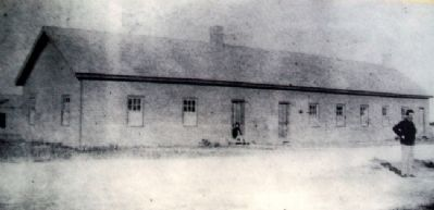 Photo of Fort Hays Chapel on Marker image. Click for full size.