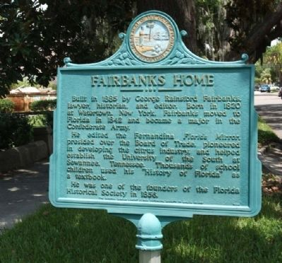 Fairbanks Home Marker image. Click for full size.