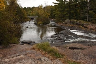 Keshena Falls & The Menominee Marker image. Click for full size.
