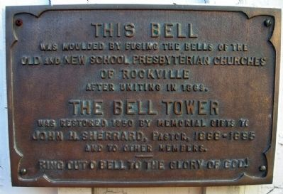 Two Bells molded into One Bell Marker image. Click for full size.