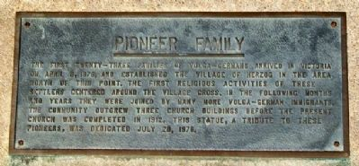 Pioneer Family Marker image. Click for full size.