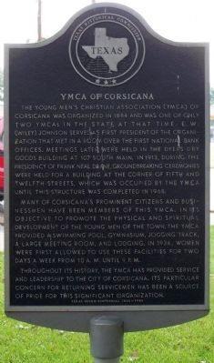 YMCA of Corsicana Marker image. Click for full size.