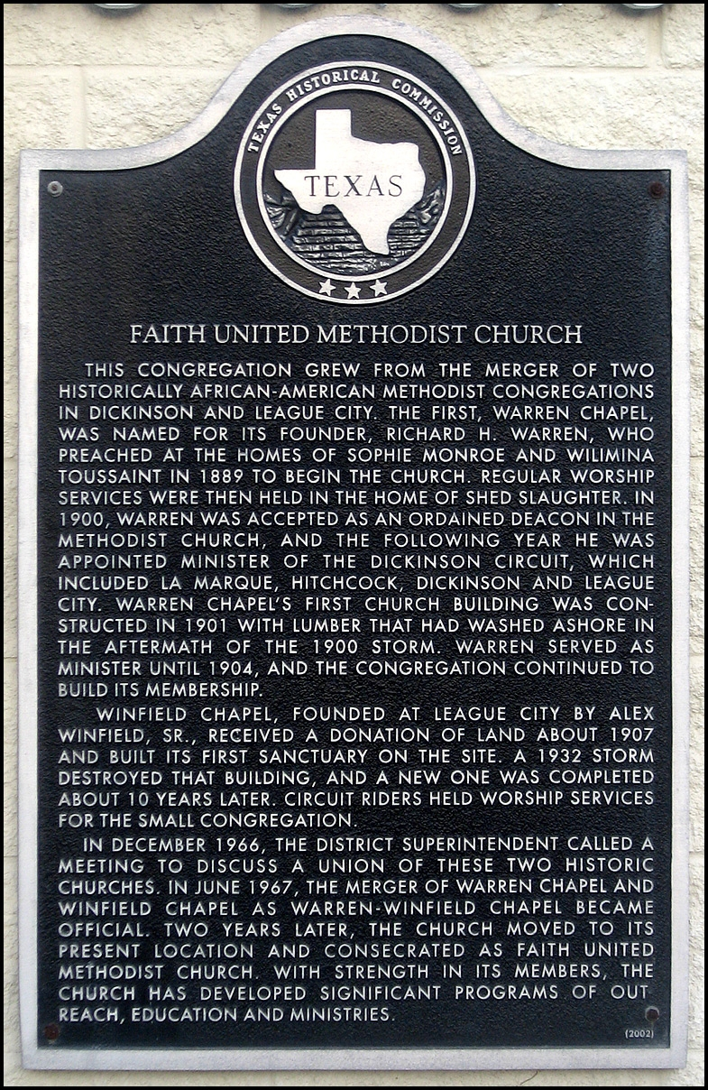 Faith United Methodist Church Marker