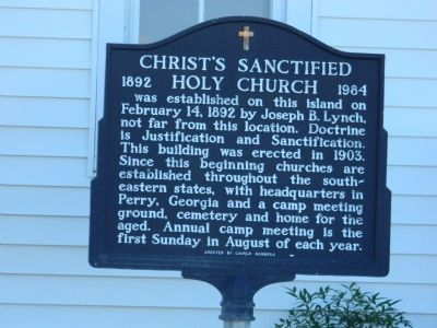 Christ Sanctified Holy Church Marker image. Click for full size.