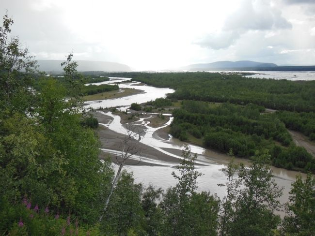 Tanana River overlook, southwest view image. Click for full size.
