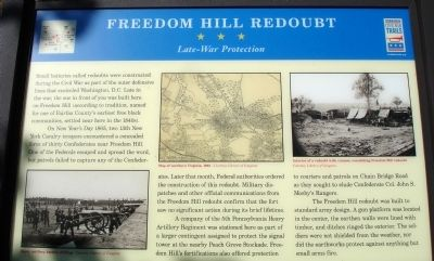 Freedom Hill Redoubt Marker image. Click for full size.