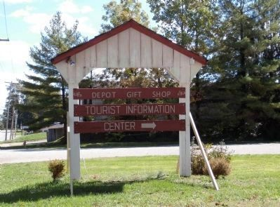 "Up-date 2012 - - ""Parke County Welcome Center"" Sign image. Click for full size."